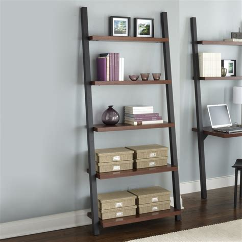 ladder bookshelf and desk furniture kicking ladder shelf puter desk design ideas leaning corner
