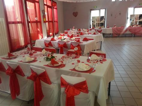 deco rouge  blanc mariage mariage toulouse