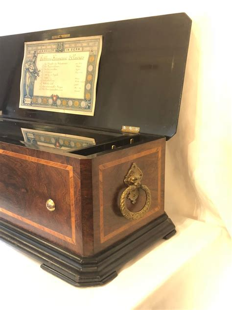 Antique nicole freres fat cylinder music box, 2 per turn. Antique Swiss Rosewood Cylinder Music Box, circa 1890 at 1stDibs