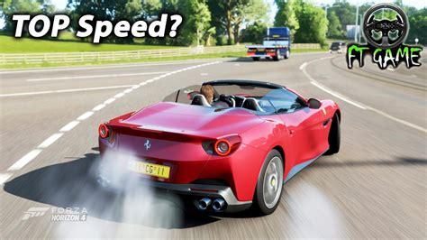 The ferrari portofino was unveiled at the 2017 frankfurt auto show as the successor to the 2014 ferrari california t. FERRARI Portofino TOP Speed & Gameplay! - Forza Horizon 4 (Wheel Cam) - YouTube