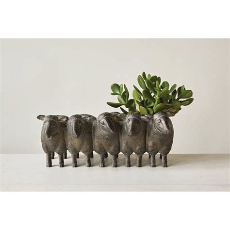 farrand resin statue planter planters metal hanging