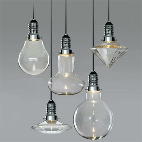 led glass pendant lights modern vintage industrial glass led retro ceiling light