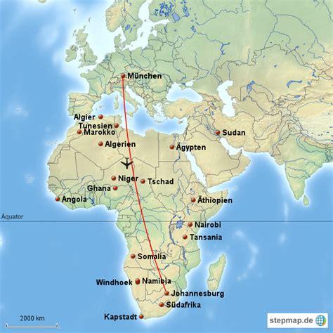 die entfernung zwischen deutschland und suedafrika