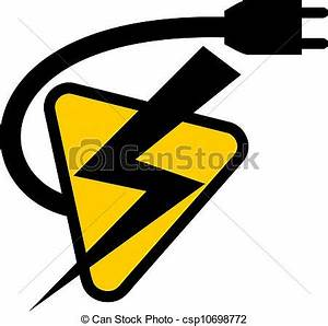 Electricity clipart vector - Pencil and in color ...