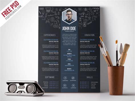 psd creative designer resume template psd  psd
