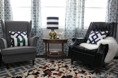 vintage modern rustic living room