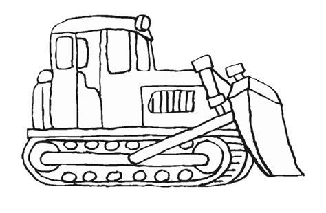 Free coloring pages to download and print. Construction Vehicles Coloring Pages Bulldozer Bulldozer ...