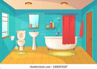bathroom cartoon images stock  vectors shutterstock