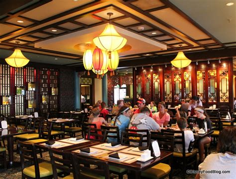 outdoor table restaurant review lunch at nine dragons in epcot 39 s china the