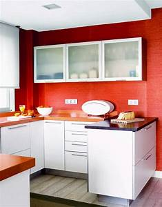 Red Walls in the Kitchen - Interiors By Color