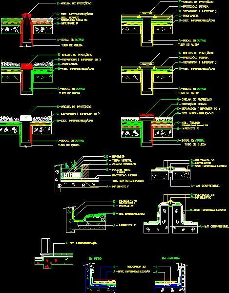 waterproofing dwg detail  autocad designs cad