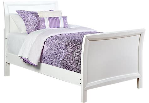 Ivy League White 3 Pc Twin Sleigh Bed