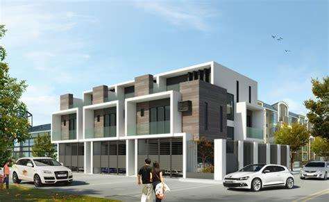 simple  townhouse designs placement house plans