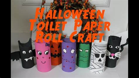 diy halloween decorations recycled toilet paper roll