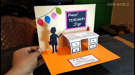 diy teachers day card handmade teachers day pop  card