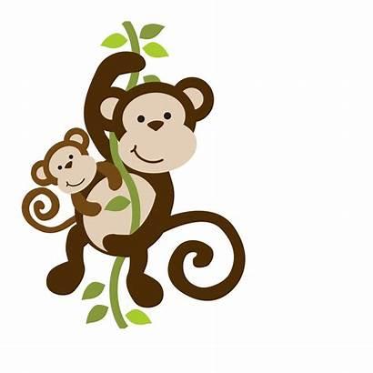 Monkey Clipart Cartoon Mommy Animals Safari Jungle