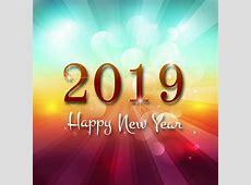 2019 Gelukkig Nieuwjaar tekst kleurrijke glanzende