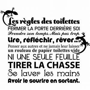 sticker citation les regles des toilettes stickers With affiche chambre bébé avec comment envoyer fleurs pour enterrement