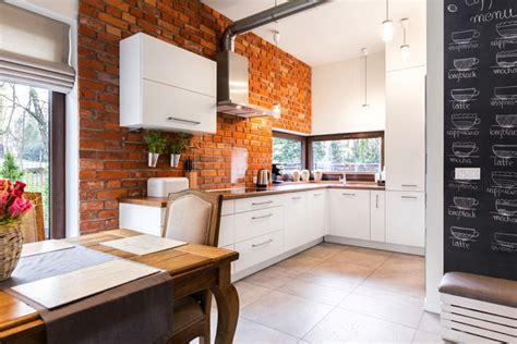 cuisine brique stunning cuisine blanche brique ideas design