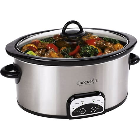 crock pot cooker crock pot 7 quart programmable slow cooker walmart com