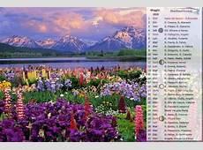 CALENDARIO 2019 foto STAGIONI per sfondo desktop