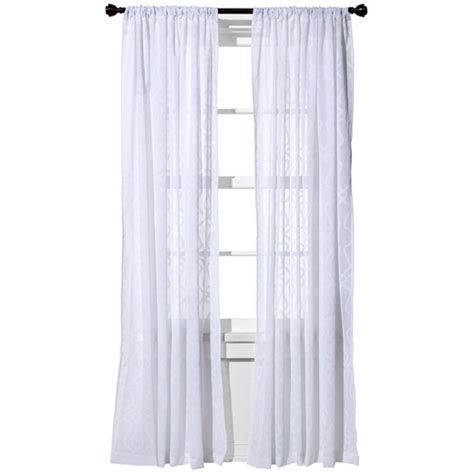 White Sheer Curtains Target by Clipped Sheer Curtain Panel Threshold Target