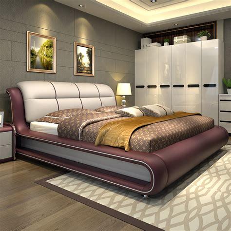 modern furniture bedroom modern bedroom furniture bed with genuine leather m01 12572 | Modern bedroom furniture bed with genuine leather M01