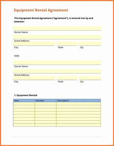 9 equipment rental agreement form template purchase for Equipment hire form template