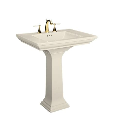 kohler k 2268 8 47 almond memoirs pedestal lavatory with 8