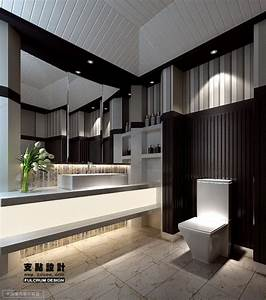 Contemporary black and white bathroom decozilla for Black and white modern bathroom