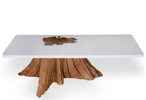 organic resin modern log furniture fuses sliced trunks organic resins
