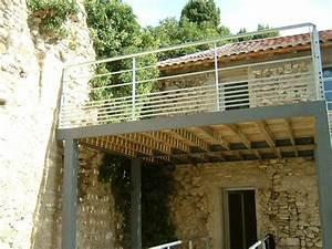 pensez votre terrasse d t mezzanine balcon pinterest With terrasse en bois suspendue prix