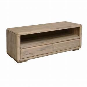 Meuble Tv Petit : meuble tv en bois exotique jo lle salon ethnique design ~ Teatrodelosmanantiales.com Idées de Décoration