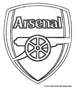 printable soccer arsenal logo coloring pages for kidsfree printable coloring pages for