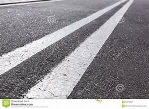 Double white lines stock image. Image of striped, diagonal ...