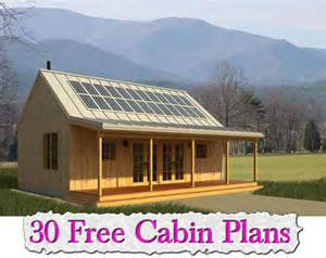 free cottage house plans 30 free cabin plans