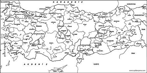 Iller Türkiye Haritası Boyama Yazdırılabilir Boyama Sayfaları