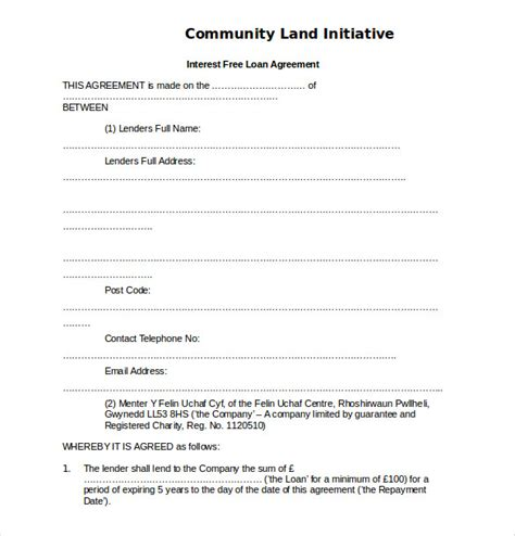 simple interest contract form 14 loan agreement templates free sle exle