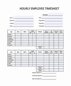 sample time sheet template 21 free documents download With hourly employee timesheet template
