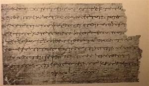 from papyrus to parchment With papyrus letters