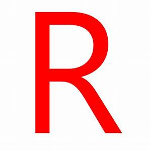 Free red letter R icon - Download red letter R icon