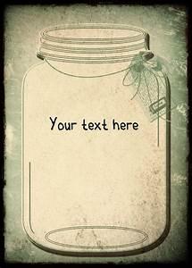 Mason Jar Invitations Templates Blank