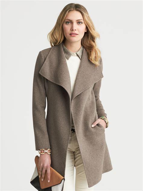 lyst banana republic draped wool coat in gray - Banana Republic Draped Wool Coat