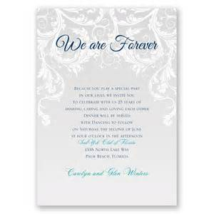 wedding vow renewal ceremony program we are forever vow renewal invitation invitations by