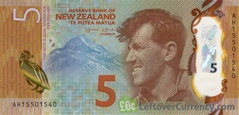 currency converter nz 5 new zealand dollars banknote 2015 exchange yours for