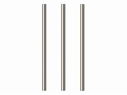 Towel Rail Vertical Heated Brushed Triple Nickel