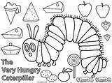 Caterpillar Hungry Coloring Very Pages sketch template