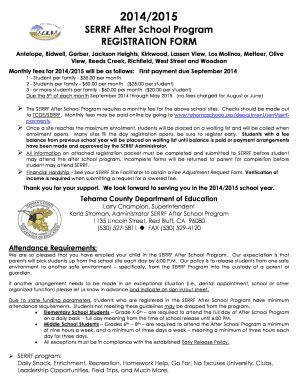 sle after school program registration form reading log exles forms and templates fillable