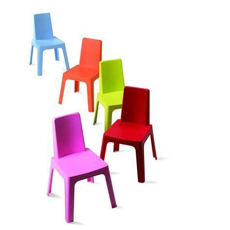 chaise resine chaise pour enfants en résine injectée julieta panaché