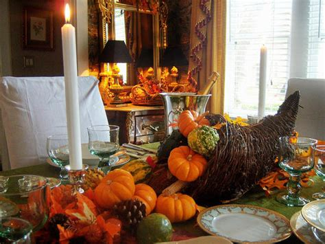 2013 Thanksgiving Dinning Table Setting And Centerpiece Weighted Shower Curtains Cottage Style Curtain Cleaner Wrought Iron Rod Country Green Liner Stainless Steel Head Outdoor And Liners